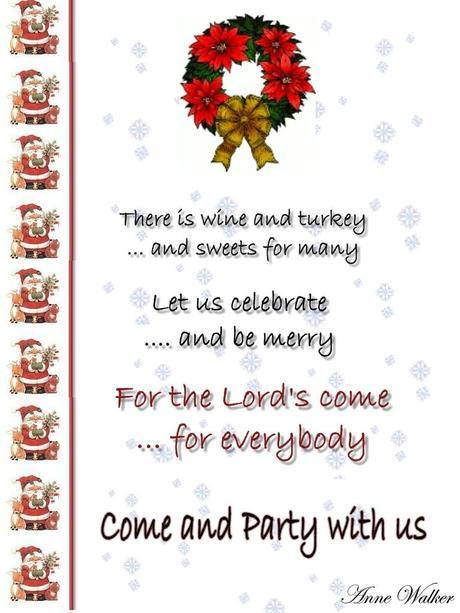 Holiday Party Invitation Language