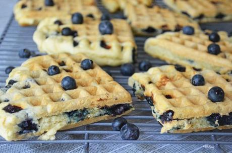 Fluffy Gluten Free Blueberry Waffles