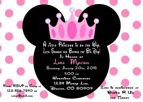 How to make minnie mouse baby shower invitations paperblog how to make minnie mouse baby shower invitations filmwisefo