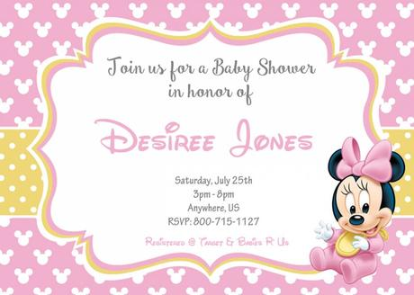 How To Make Minnie Mouse Baby Shower Invitations Paperblog