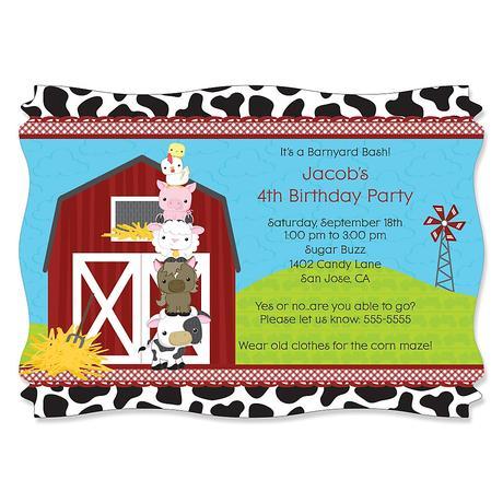Farm Themed Birthday Party Invitations Paperblog