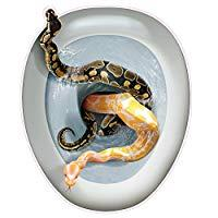 Image: Beistle Creepy Toilet Lid Cling SNAKES Peel 'N Place Topper | Great For Haunted Houses Or April Fools!