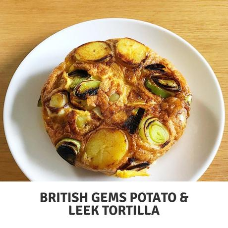 Recipe: British Gems Baby Potato and leek tortilla