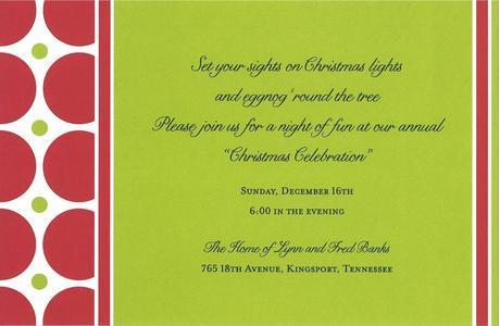 Custom Christmas Party Invitations