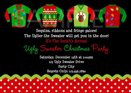 Custom Christmas Party Invitations Paperblog