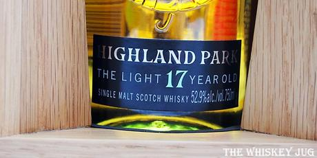 Highland Park The Light 17 Years Label