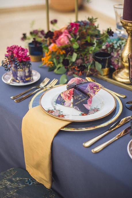 Anassa Hotel Eclectic Jewel Toned Bridal Shoot