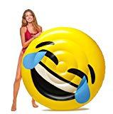 Image: Floatie Kings LOL Emoji Pool Float   Giant Premium Inflatable Raft   Take it it to the beach, river, lake or just relax in a pool!