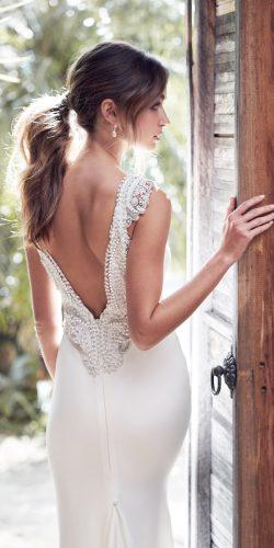 simple low back embellishment hand beaded shoulders sleeveless anna campbell 2019 wedding dresses blake