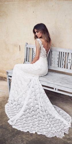 anna campbell 2019 lace sheath fit and flare open back hand beaded straps wedding dresses sasha