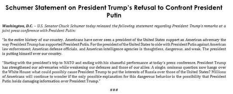 Biden, McCain, & Schumer Respond To Trump's Appeasement