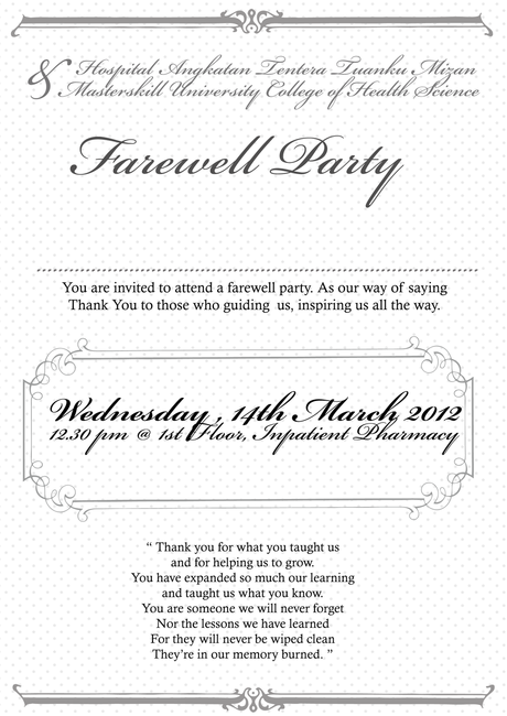 Perfect Farewell Party Invitation Email
