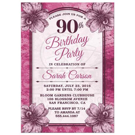 90th Birthday Invitation Cards Paperblog
