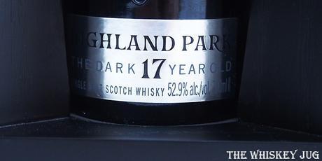 Highland Park The Dark 17 Years Label