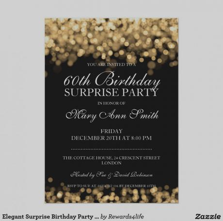Birthday Invitations For 60 Year Old