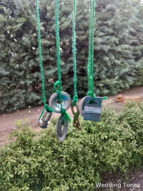 DIY: Handmade Wind Chime with Metal Ornaments