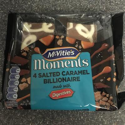 Today's Review: McVitie's Moments Salted Caramel Billionaire