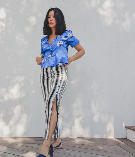 summer outfit ideas satin blouse