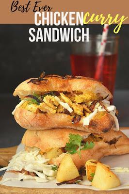 Chicken Sandwich (Leftover Chicken Curry Sandwich) Recipe
