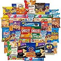 Image: Cookies Chips, and Candies | Snacks Variety Pack | Bulk Sampler Assortment | Care Package 40 Count