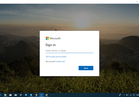 login using microsoft account