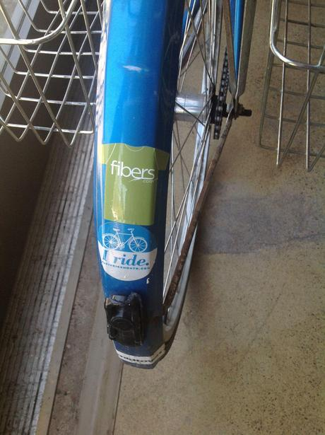 fibers.com sticker, bike