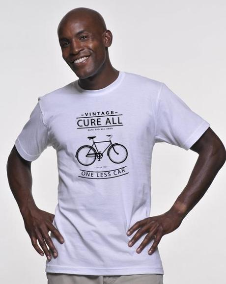 One Less Car bicycle t-shirt, vintage, cure-all, funny