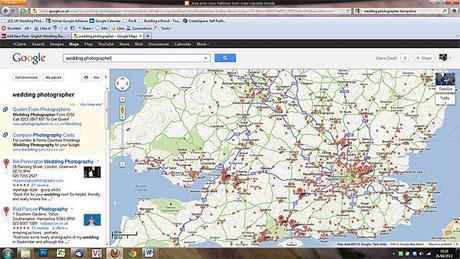 wedding photographers map UK