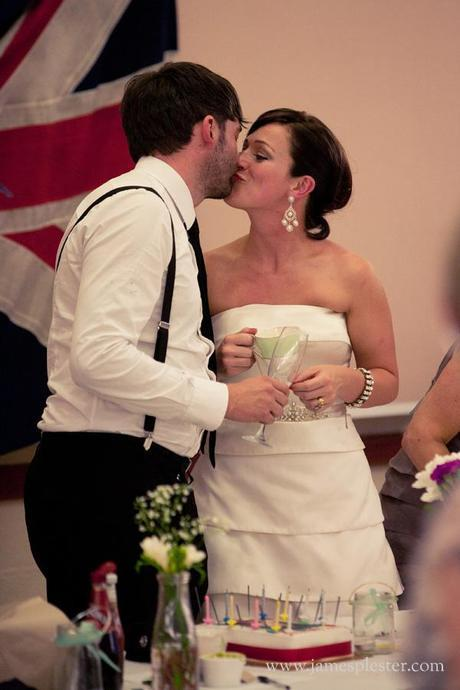 red white and blue on English Wedding blog