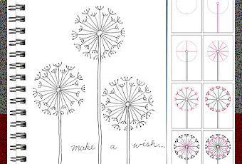 How to draw a dandelion paperblog for How to draw a dandelion step by step