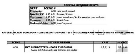 Inside True Blood Blog: Call Sheet for April 26th