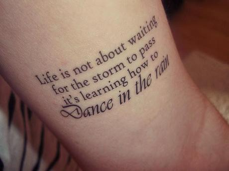 Fake Tattoos 'Dance in the Rain' temporary tattoo £3.60 (*)