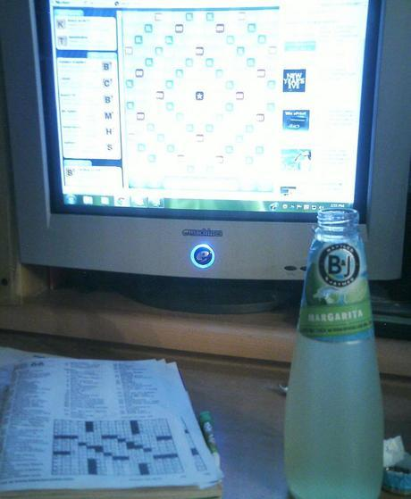 My Sunday: Pajamas, Word Games and Wine Cooler(s)