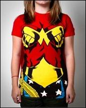 Wonder Woman caped t-shirt front