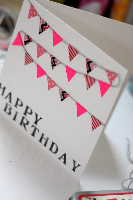 Easy Washi Tape Greeting Card