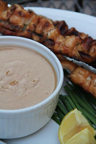 Chicken Satay With Raw Cashew Sauce and Artisana Giveaway