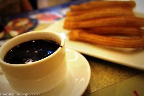 Churros con Chocolate at Dulcinea