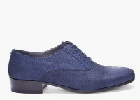 Scaled to Fit:  Lanvin Navy Scaled Leather Lace-ups