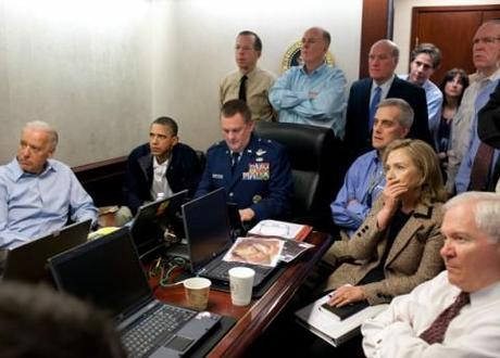 Barack Obama monitoring the mission to kill Osama bin Laden