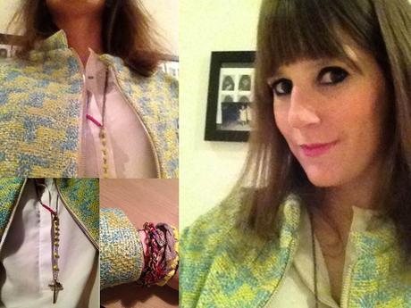 The neon yellow tweed jacket