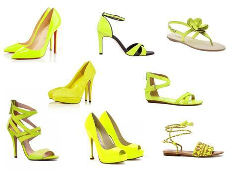 The neon yellow shoes