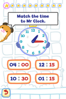 Tell the Time with Bubbimals iPad / iPhone App, Match the time