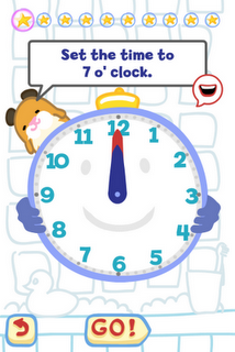 Tell the Time with Bubbimals iPad / iPhone App, What's the time?