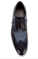 No Wrong Way to Do Denim:  Boss Orange Dilanos Wingtip Lace-ups