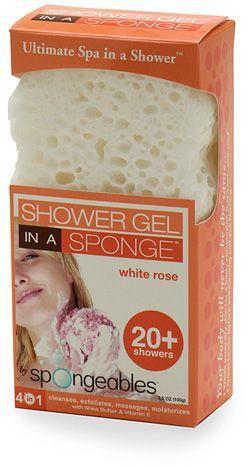 Shower-Gel-in-a-Sponge-White Rose