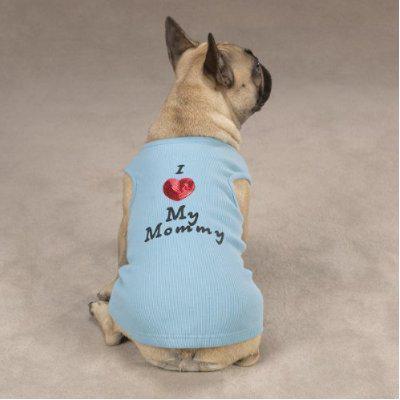 I Heart My Mommy Dog T-Shirt