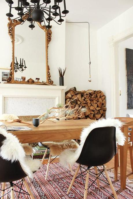 marion-house-book-dining-eames-fireplace-chandelier-rug-fur