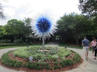 Dallas Arboretum Blooms with Chihuly Glass Sculptures