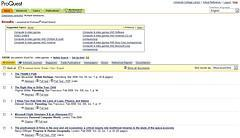 ProQuest search results