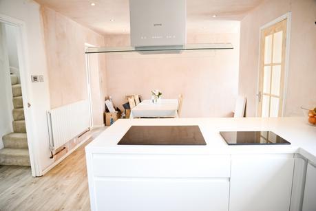 two storey front side extension, kitchen makeover, quickstep livyn, modern white kitchen, clerkenwell gloss hoydens kitchen,
